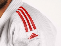 J690 Quest White & Red Stripes - Double Weave