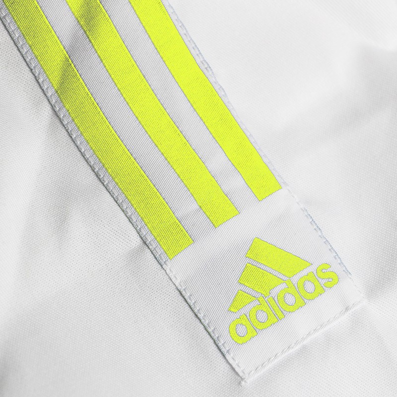 J350 Club Gi White & Yellow Stripes