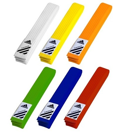 Colored Judo Belts