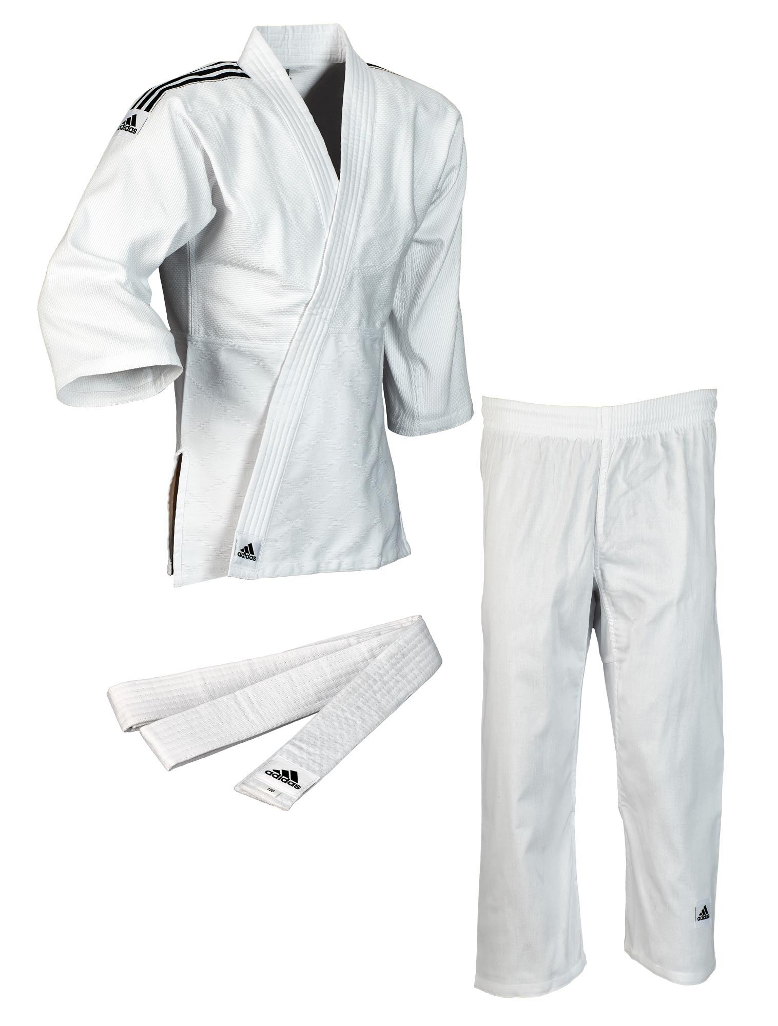 J350 Club Gi White & Black Stripes